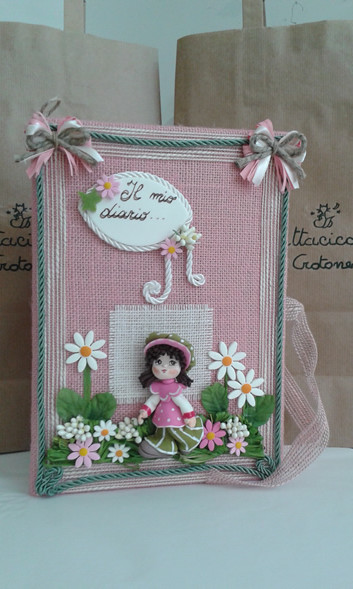 Diario nascita con bambolina
