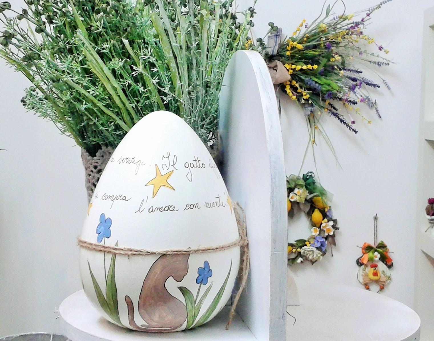 Uovo di pasqua in ceramica gattacicovagattacicova - Uova di pasqua decorati ...