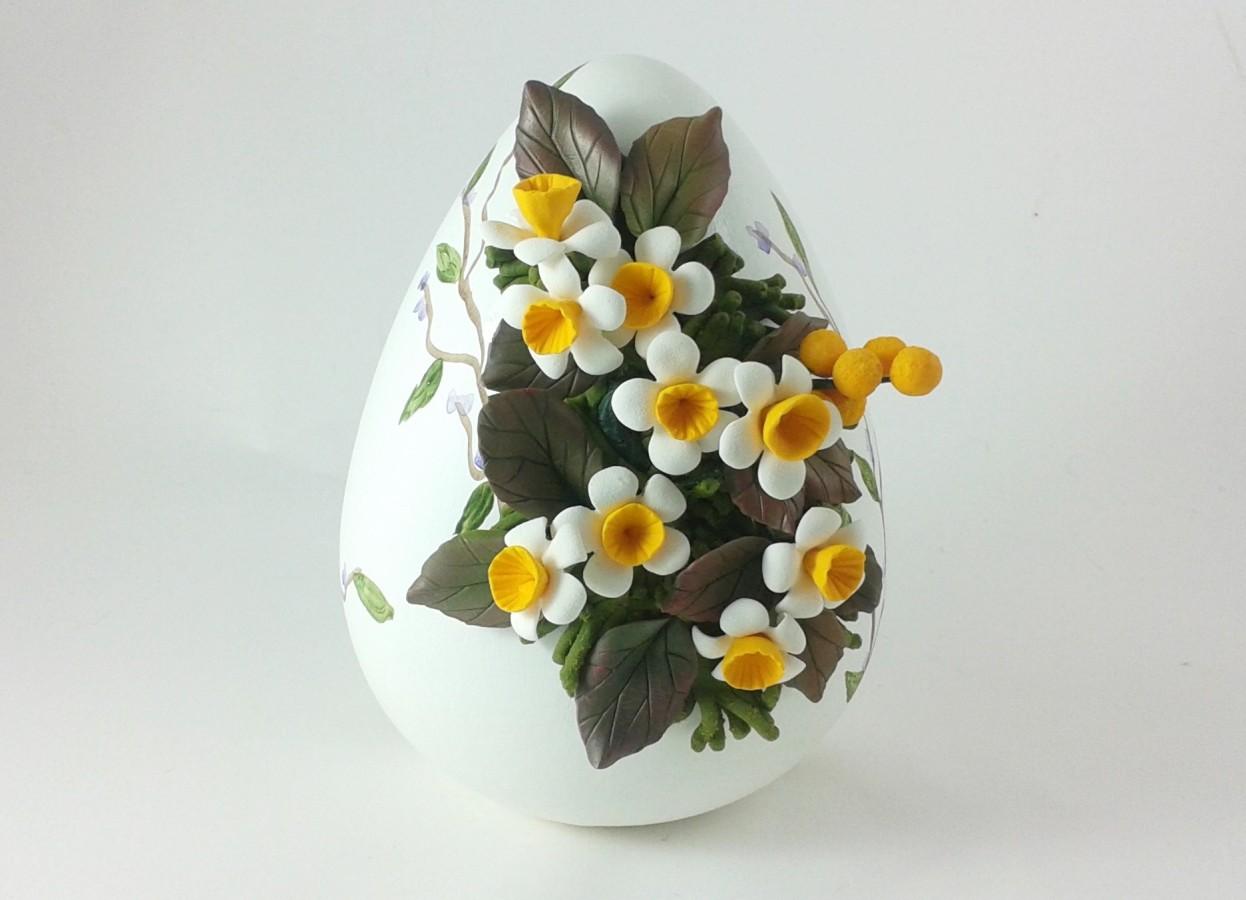 Uovo di pasqua in ceramica gattacicovagattacicova - Uova di pasqua decorati a mano ...