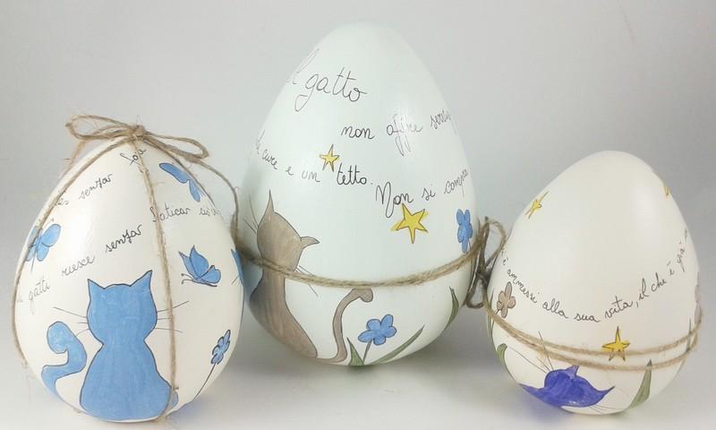 Uovo dipinto a mano gattacicovagattacicova - Uova di pasqua decorati a mano ...